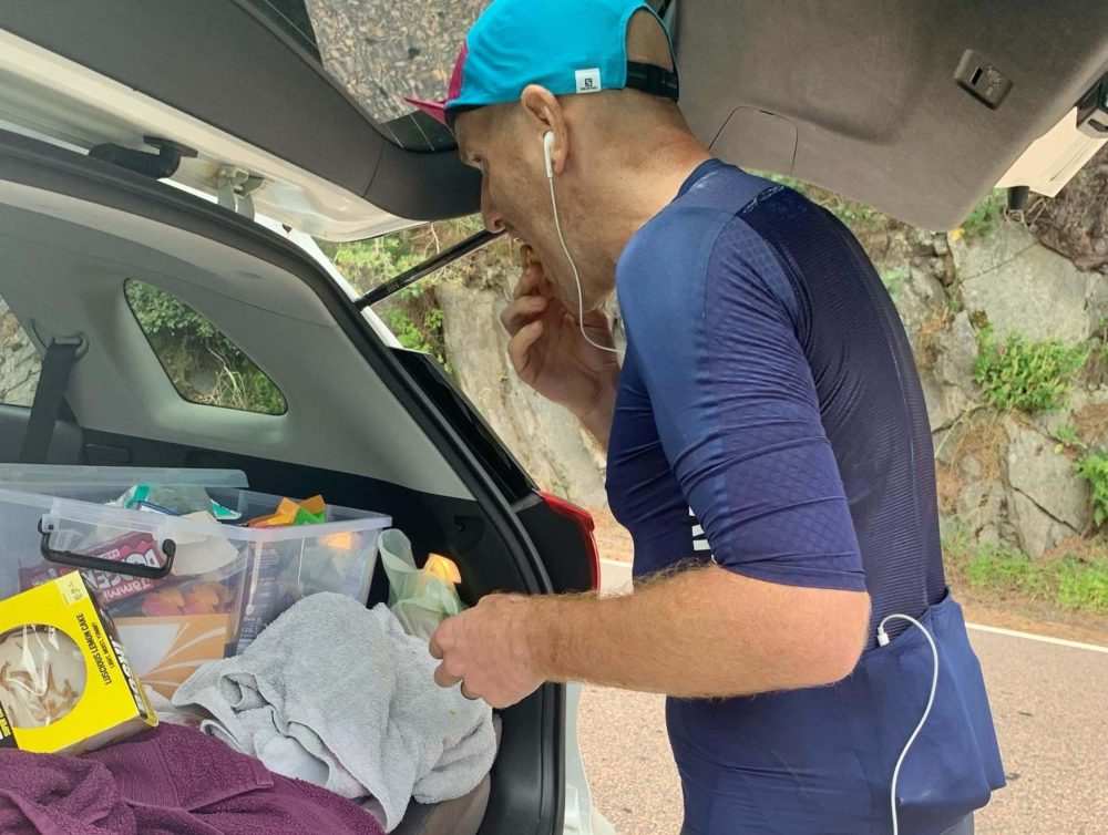 The avid adventurer had three stops throughout the 33 hour cycle - Scottish News