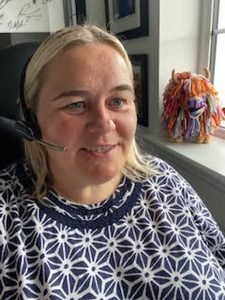 Jo Dallas, a volunteer with Food Train's Phone Friends service, making a call - Scottish News
