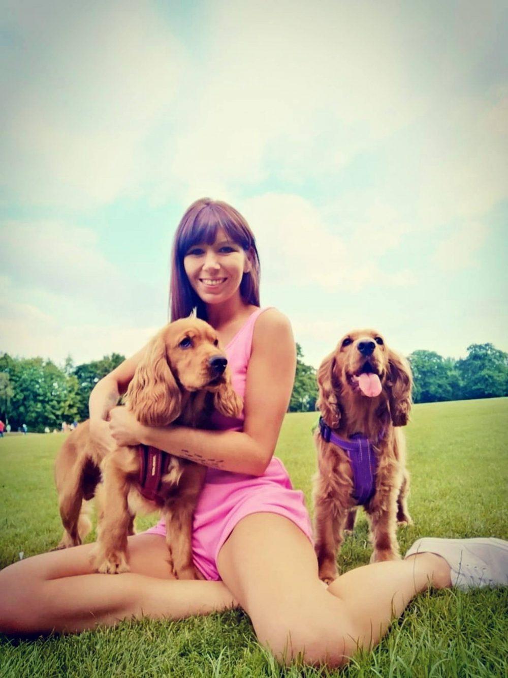 Ashleigh with Freddie and Nala   Animal News UK