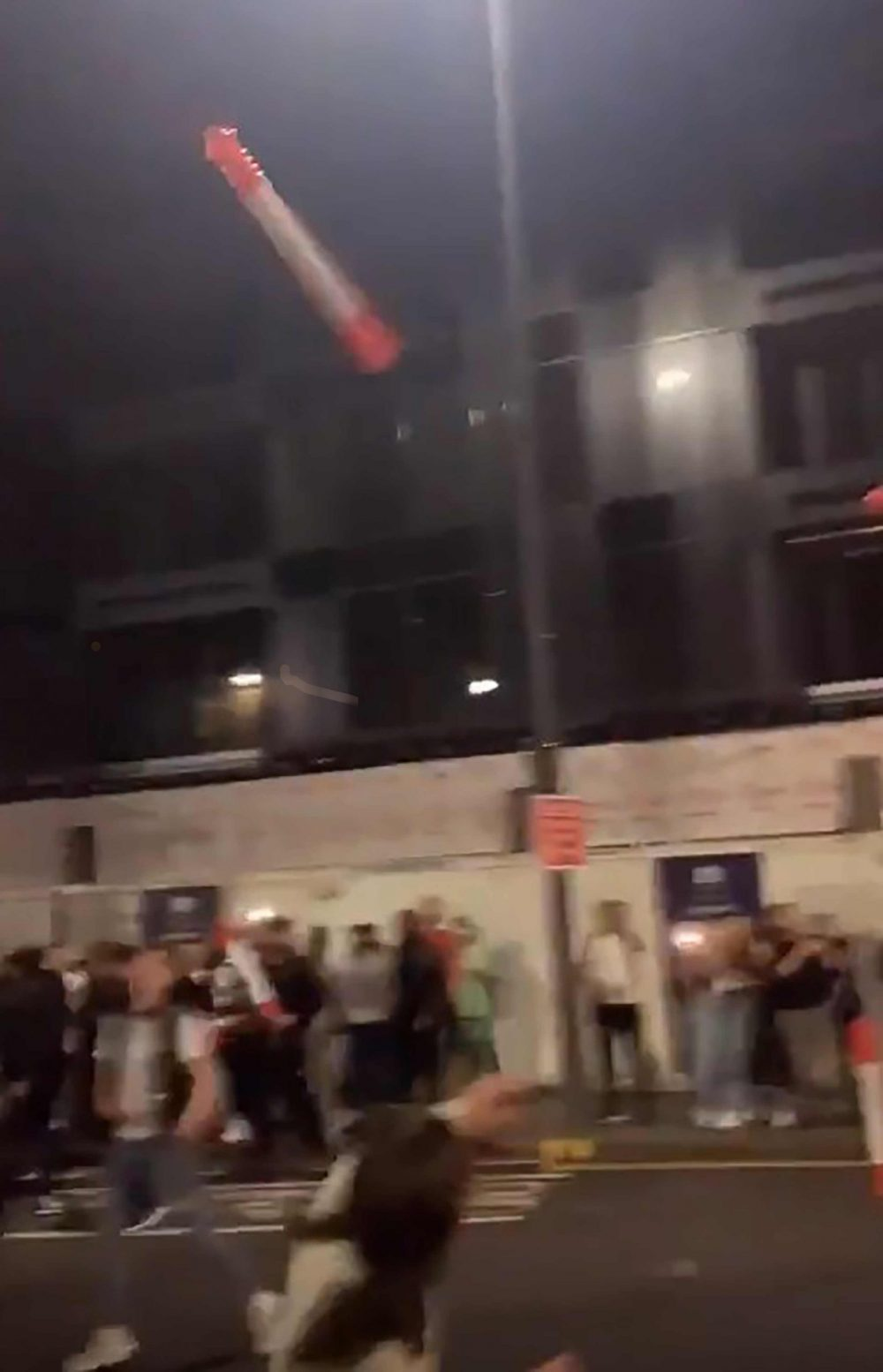 Fans lobbed plastic bollards at each other - Football News UK