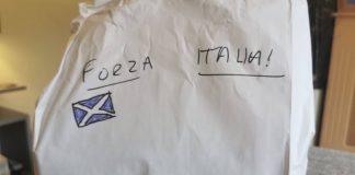Forza Italia written on takeaway bag   Scottish News
