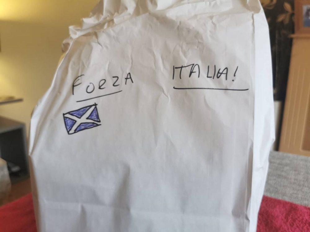 Forza Italia written on takeaway bag | Scottish News