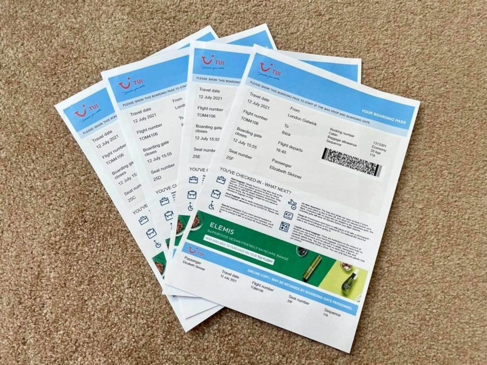 Their TUI boarding passes - Holiday News UK