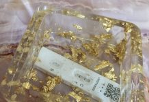 Lateral flow test ashtray | Coronavirus News UK