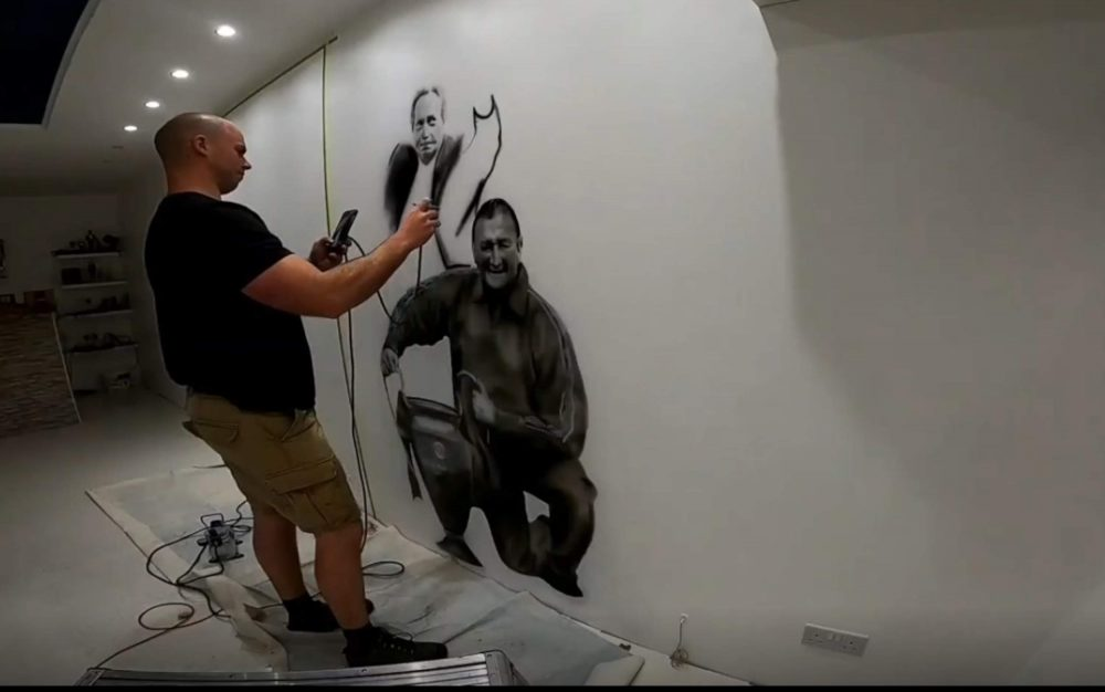 Each Liverpool legend was spray-painted onto the walls - Football News UK