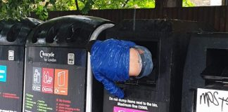 Londoner stuck in a bin | London News