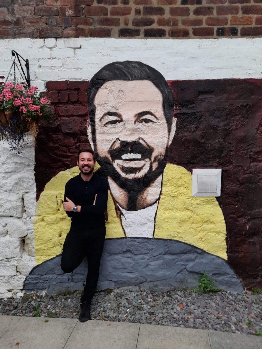 Martin Compston mural - Scottish News