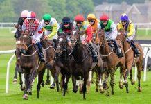 Horses racing at Musselburgh - Musselburgh Horse Racing