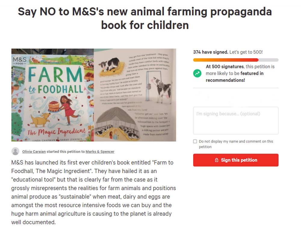 M&S book petition - Consumer News UK