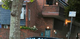 Red Citroen covered in white spray paint- London Crime News