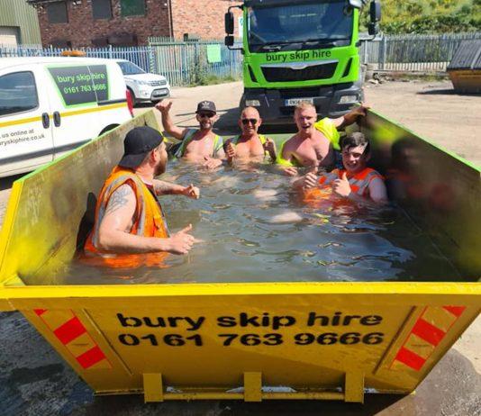 Skip swimming pool - Weather News UK
