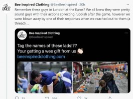 Bee Inspired Clothing share the generous act on Twitter   Scottish News