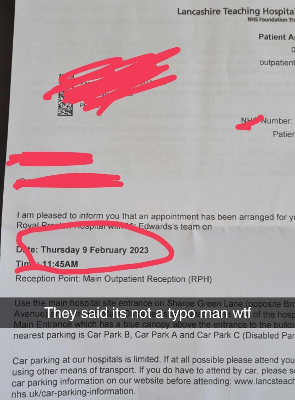 The appointment letter from the NHS - Health News UK