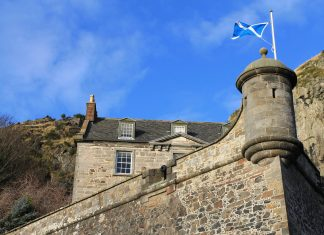 Scottish flag on building - Scottish News