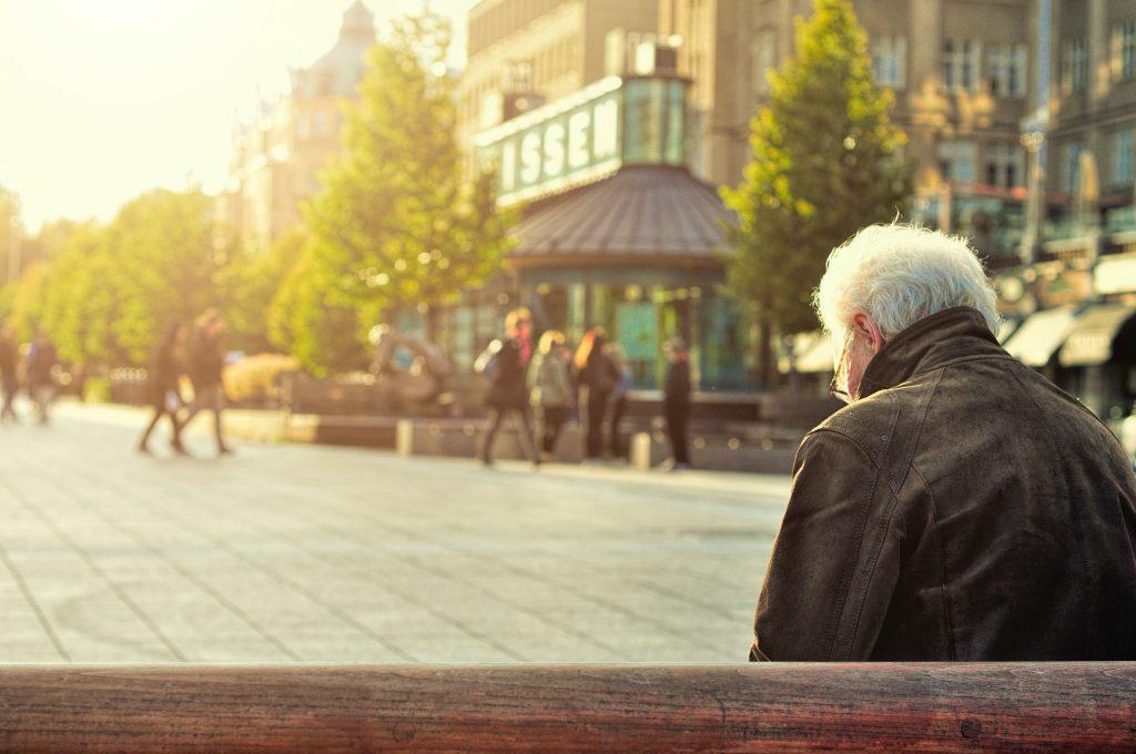 man alone on a bench - Scottish News