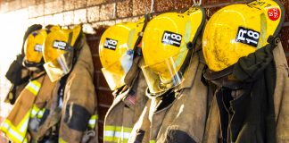 hanging up fireman uniform - Scottish News