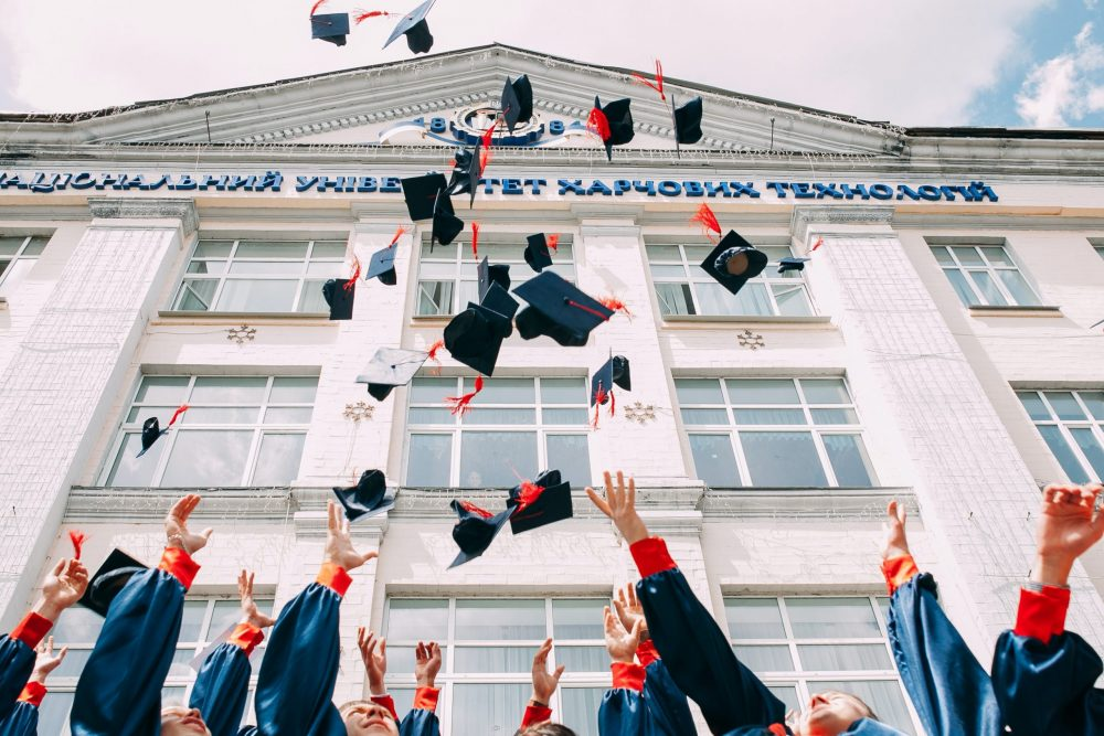 graduation cap throwing - Scottish News