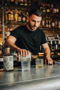 Freddy Ducquer Pouring Brass Neck Rum - Food and Drink News Scotland