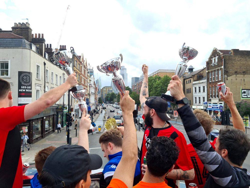 Judas F.C's bus parade   Football News UK