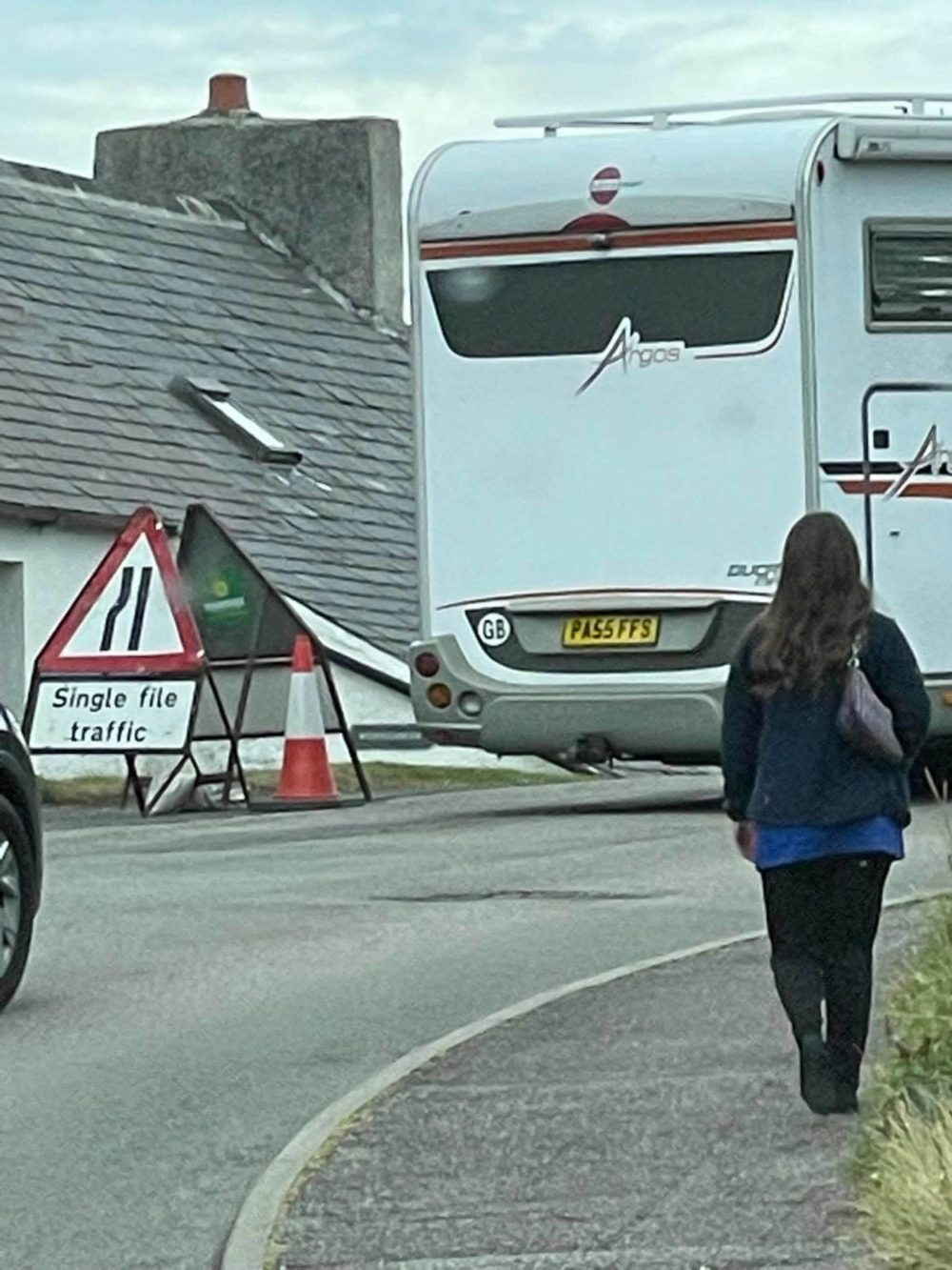 The campervan with the funny license plate   Scottish News