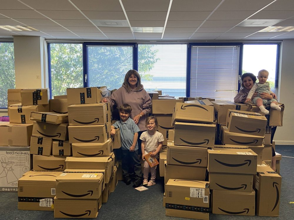 AberNecessities with their donations | Scottish Charity News