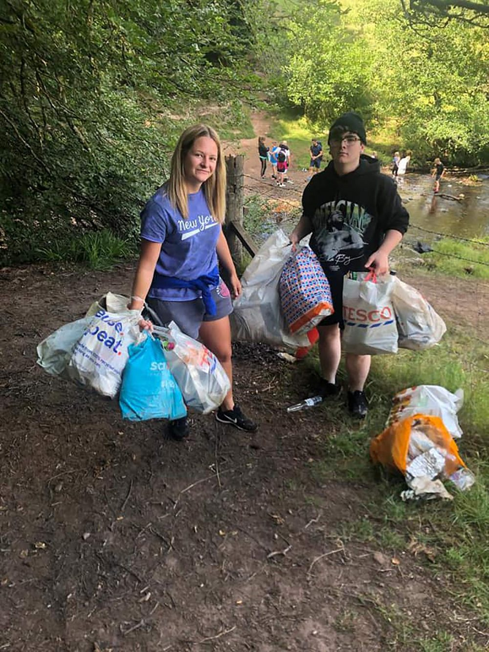 The kids picked up 20 bags of rubbish - Scottish Nature News