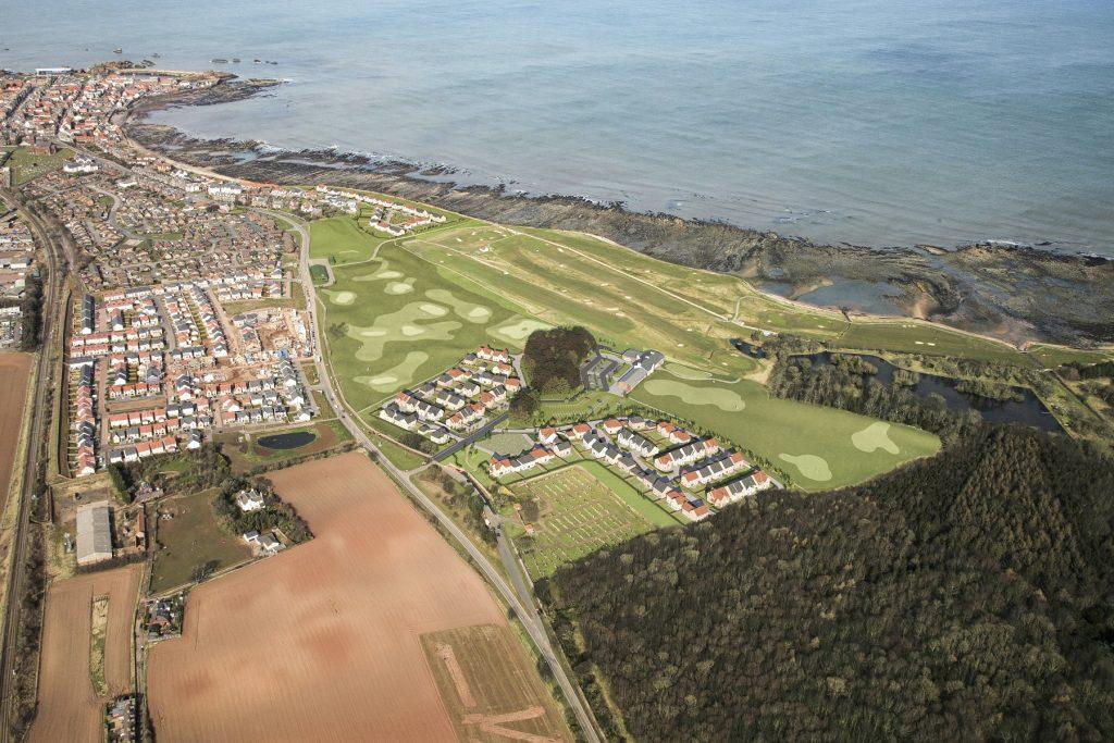 Dunbar Golf Club Aerial View
