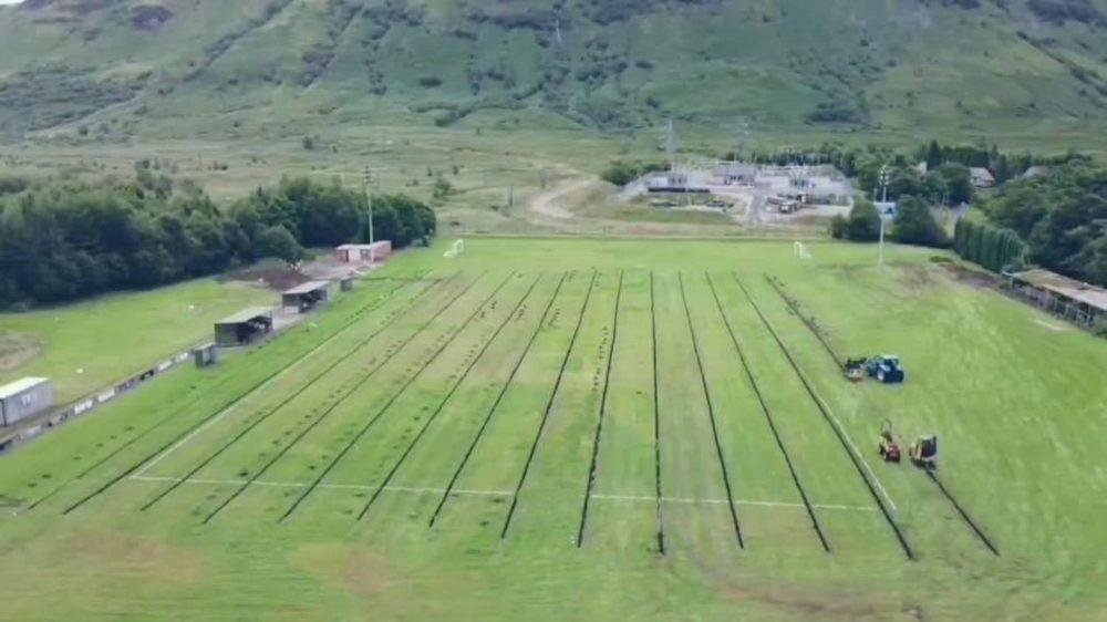 Birdseye view of Claggan Park   Scottish News