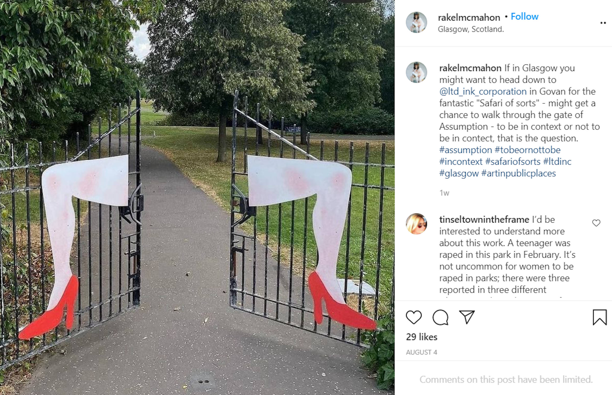 The artist shared the feature on Instagram - Scottish News