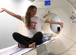 Nicky after a scan - Health News UK
