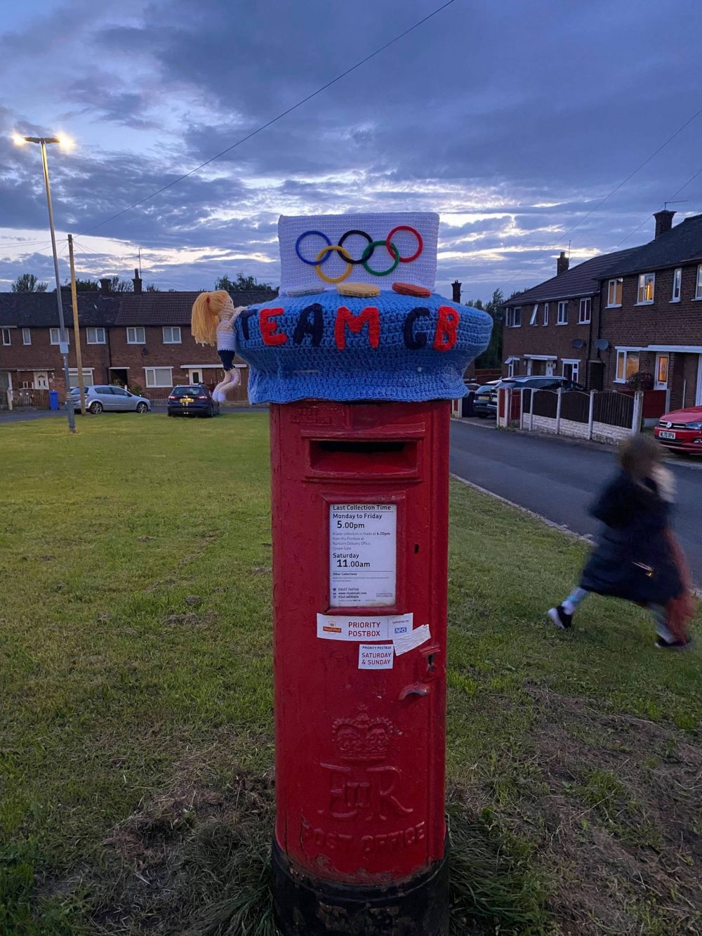The postbox in the Olympian's home town - Sports News UK