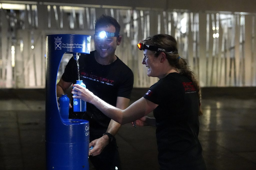 Scottish Water Top Up Tap Challenge, Your Water Your Life, Race Fitness, Warren Baillie and Samantha Adderley