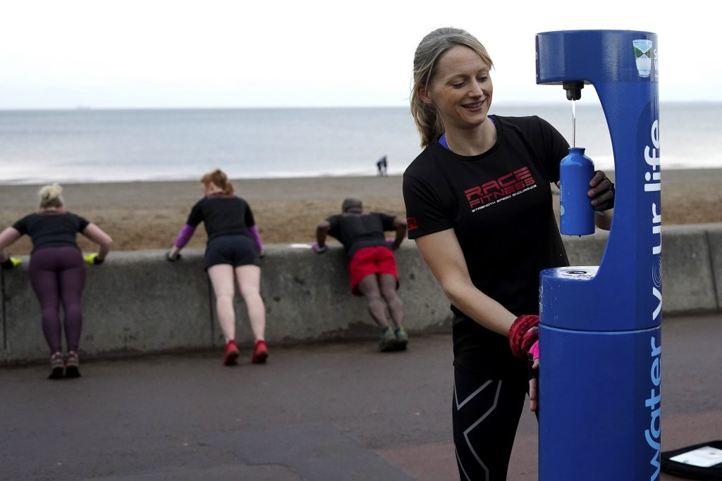 Scottish Water Top Up Tap Challenge, Your Water Your Life, Race Fitness,Sarah Smith