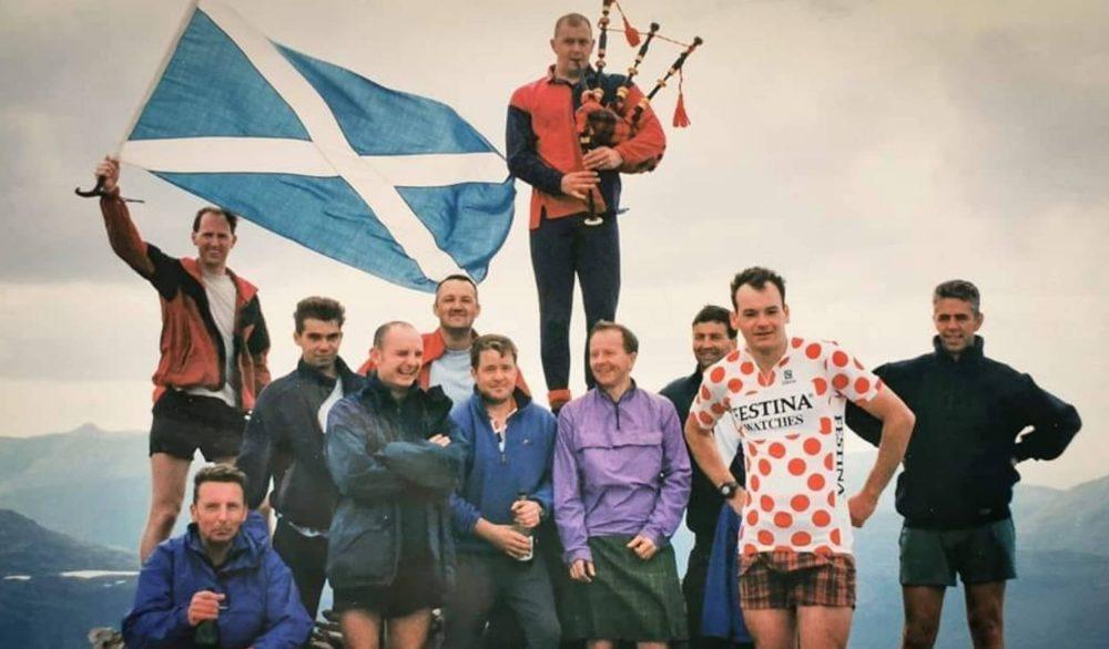 Cam Johnston celebrates completing his first Munro round   Scottish Hill Walking News