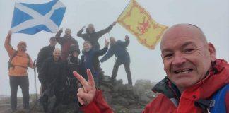 Cam Johnston celebrates his second Munro round | Scottish Hill Walking News