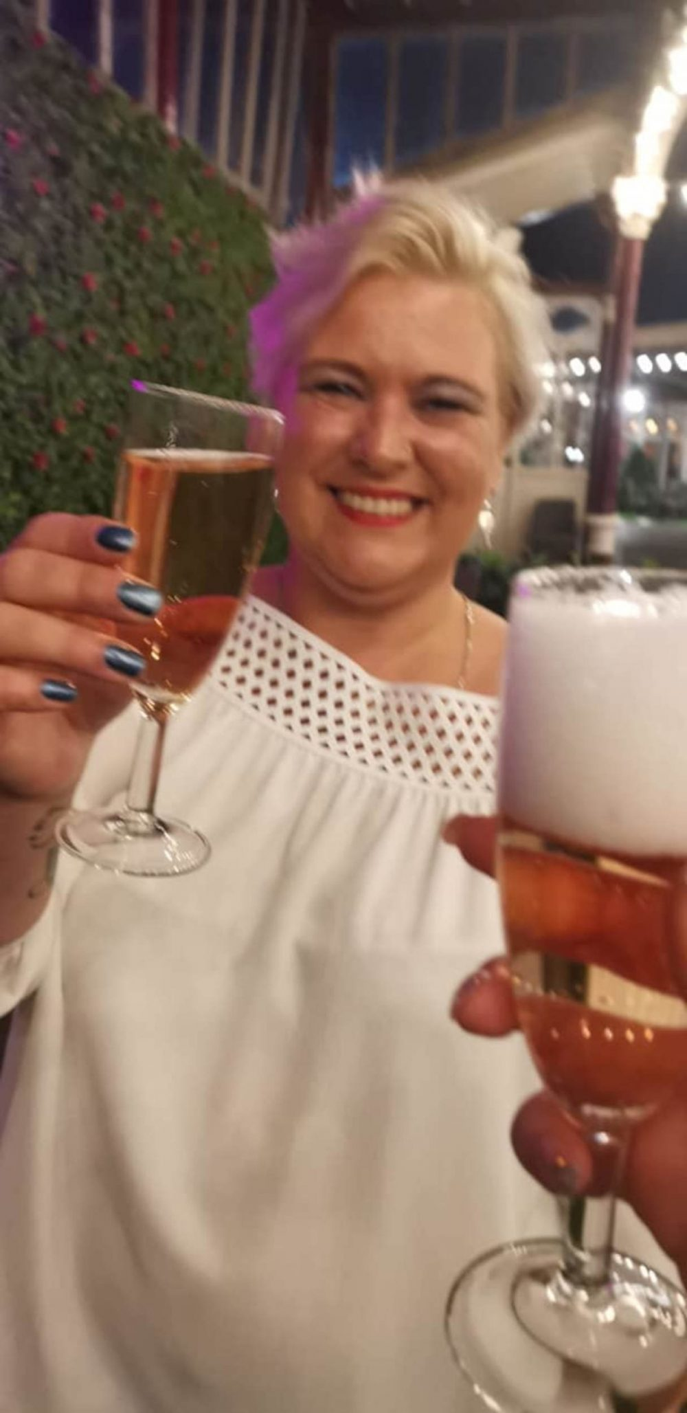The Brit celebrating her recovery - Health News UK