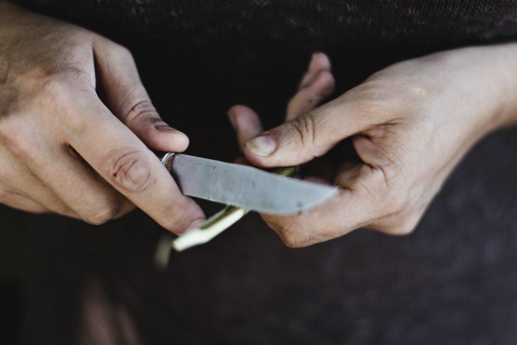 knife in hands - scottish crime news