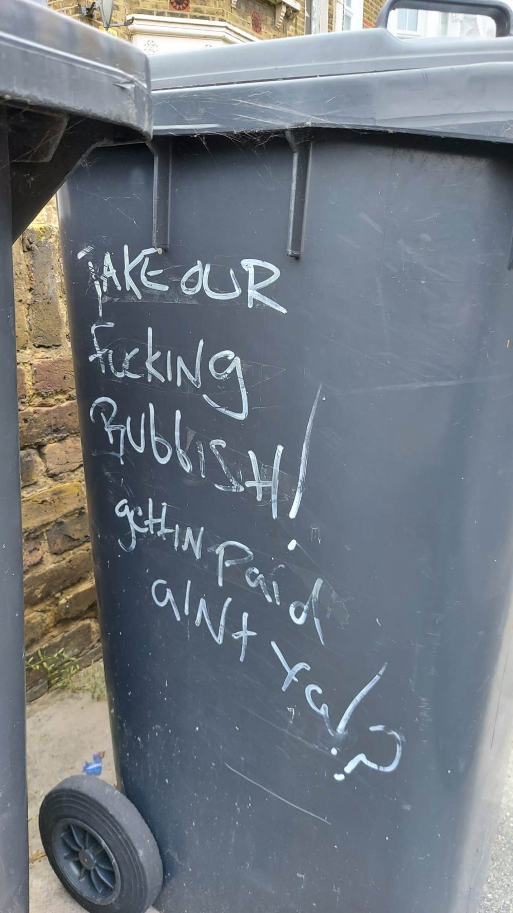 Bin with x-rated message - Sanitation News UK