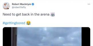 Robert MacIntyre posted the video to Twitter - Scottish News