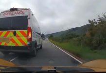 Ambulance pulling out - Dashcam News Scotland