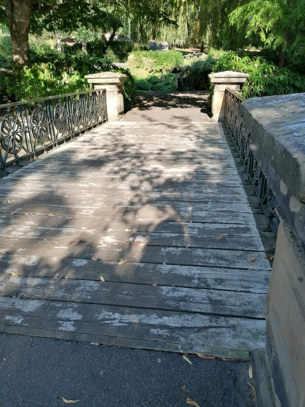 The bridge in Lincoln Arboretum where Grant Stevens proposed to Milly Reece