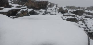 The snow that was spotted on Lochnagar in the north of Scotland
