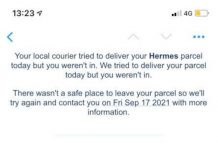 The notification received by the customer - Consumer News