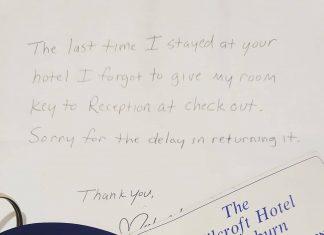 The 20-year-old returned hotel key | Scottish News