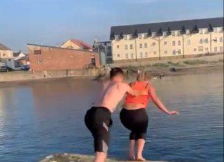 Taylor pushing Danielle - Scottish News
