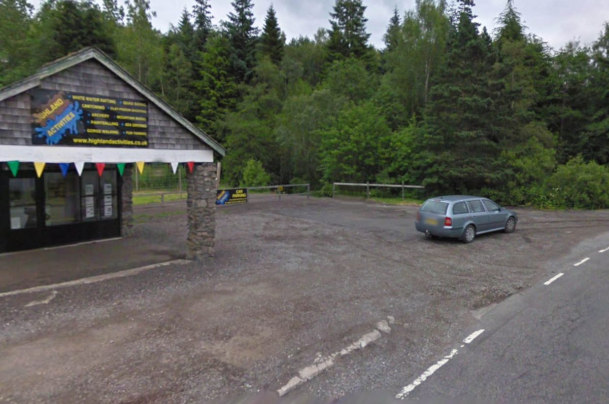 The 4x4 centre where the Liam Neeson style sign was found.