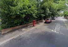 The postbox is situated on Princess Road, in the affluent area of Westbourne.
