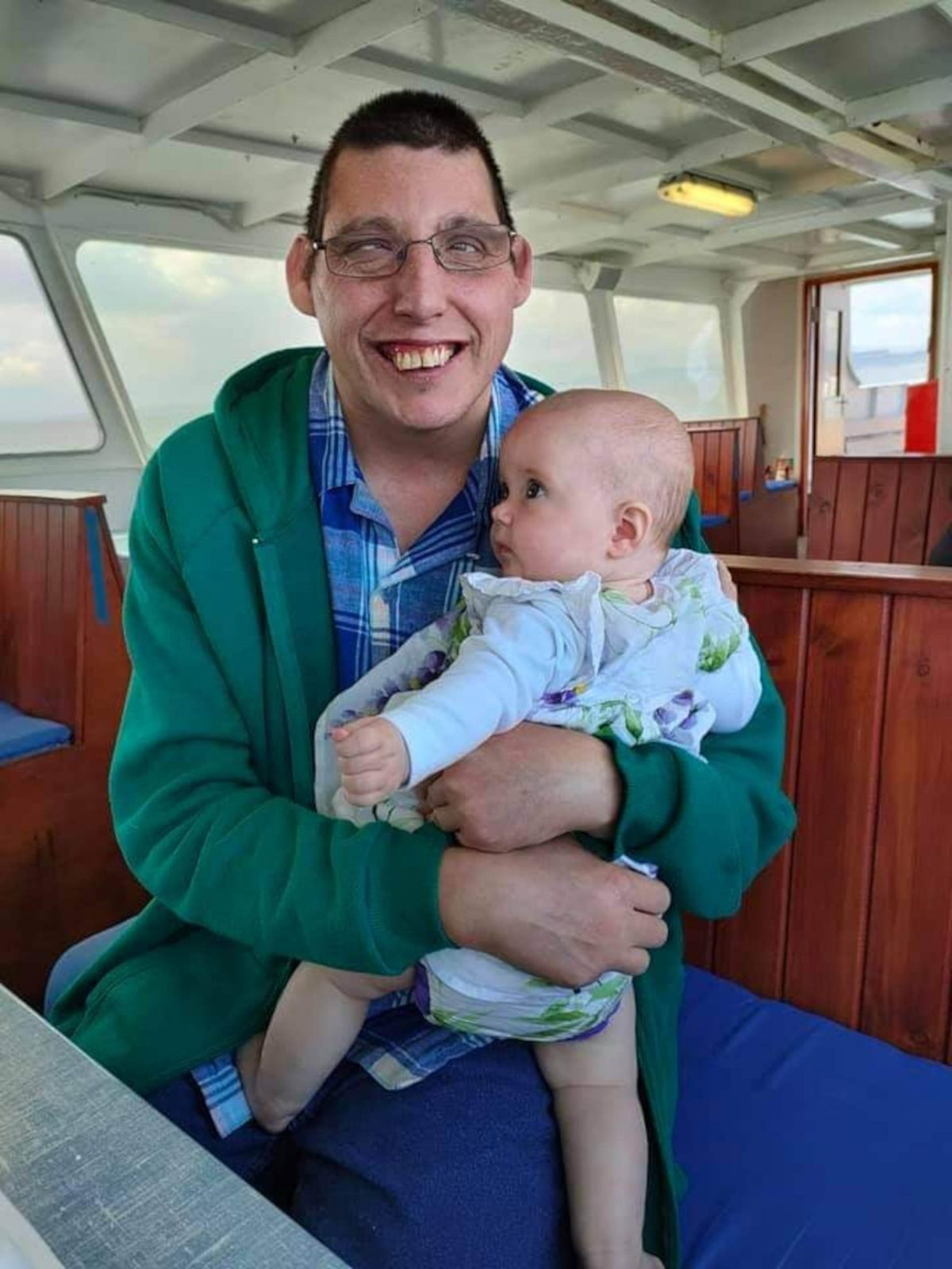 Fiona's brother Eric - who uses Makaton to communicate as a result of his severe autism- with his niece Abigail.