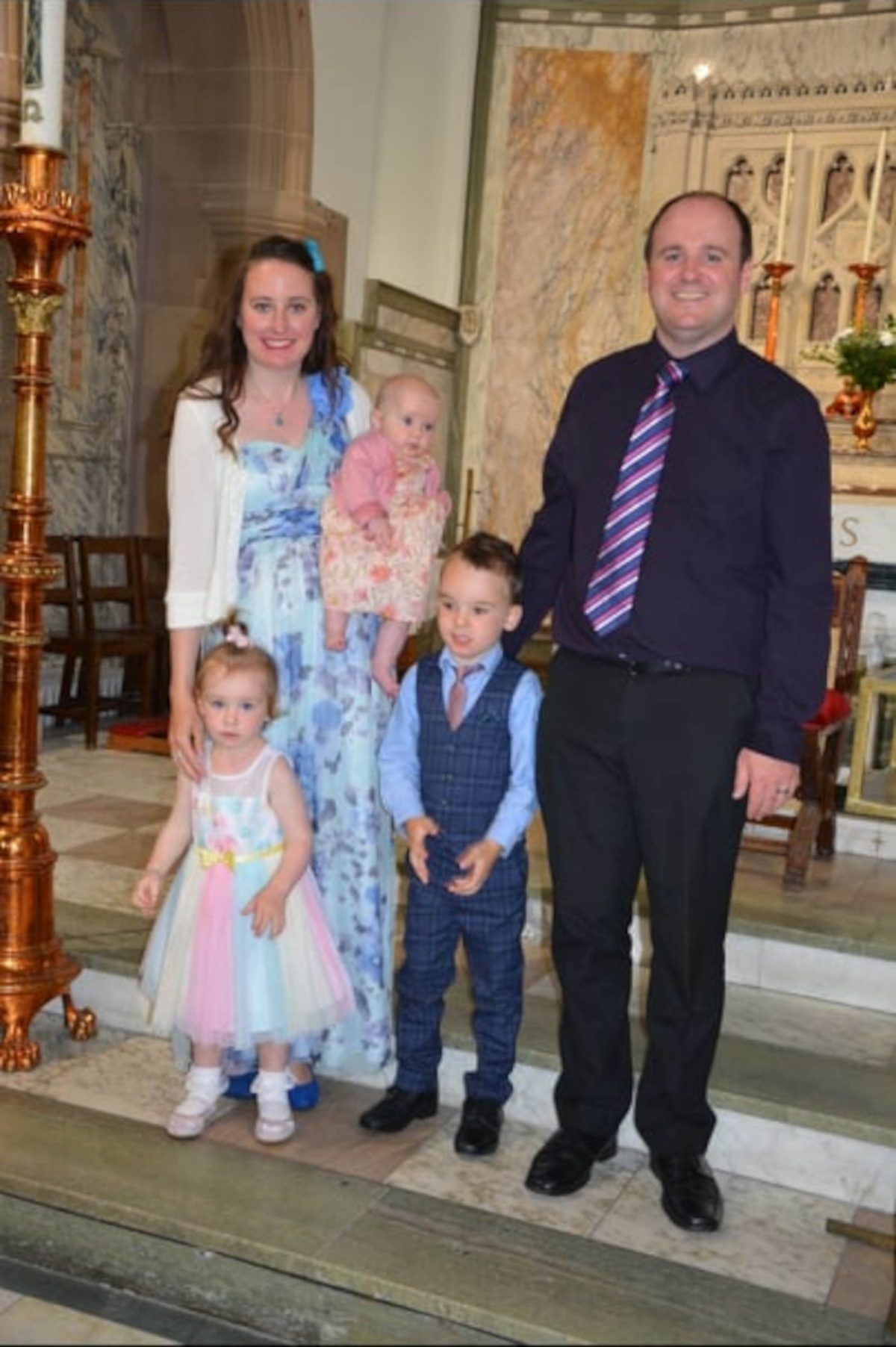 Fiona with her husband Kevin, and their three children Abigail, Christina and Matthew