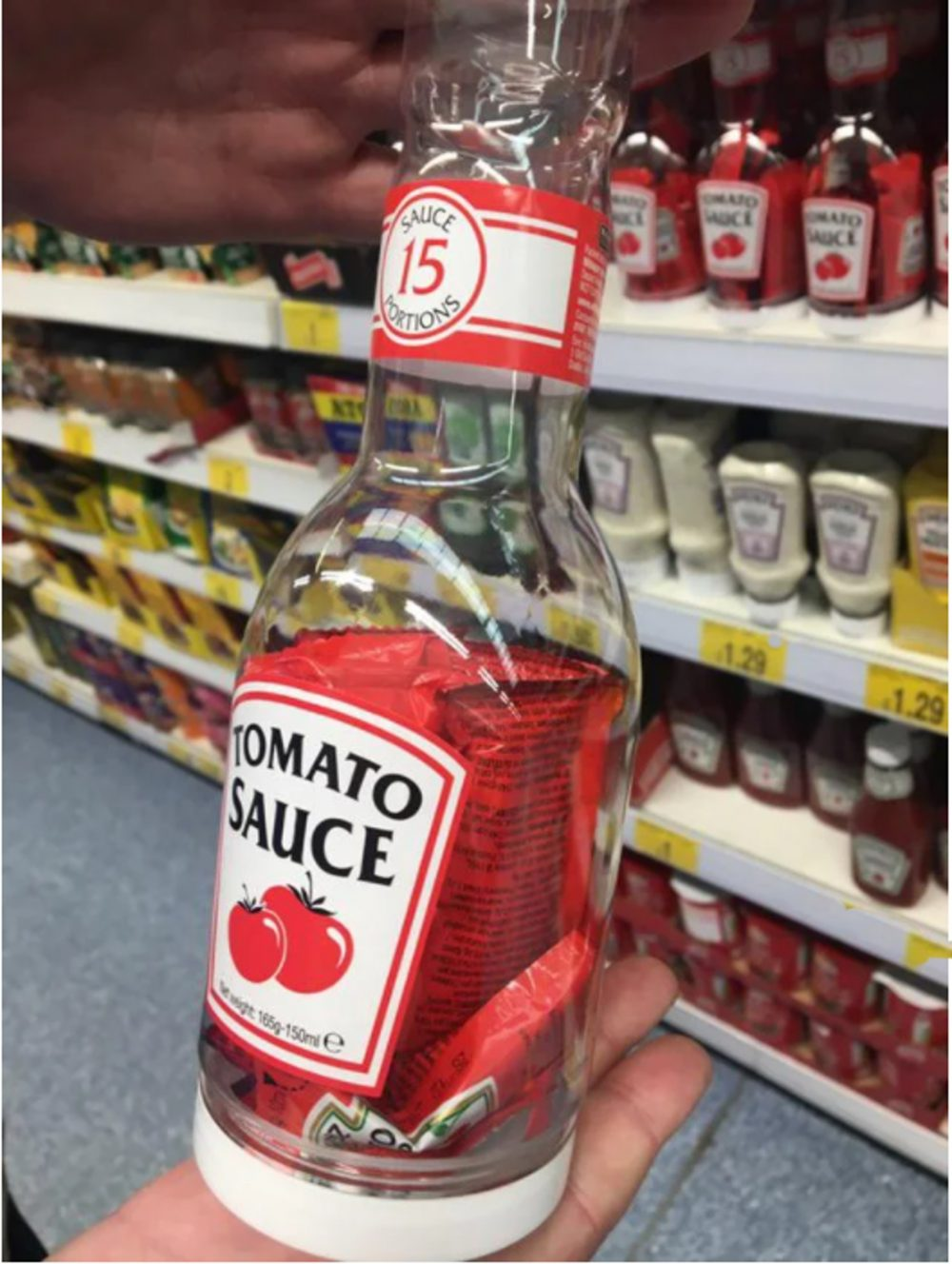 Tomato ketchup bottle that was found in B&M - UK and World News